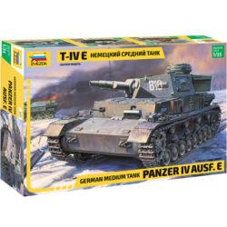 zvezda 3641 German Panzerkampfwagen IV Ausf.E Kit en plástico para montar y pintar. Cadenas por tramos y eslabones.