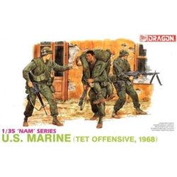 dragon 3305 US Marine Tet Ofensive 1968 Kit en plástico para montar y pintar. Incluye 4 figuras de marines americanos en la ofensiva del Tet en 1968.