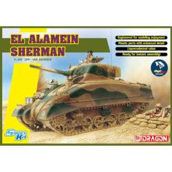 dragon 6617 EL ALAMEIN SHERMAN Kit en plástico para montar y pintar. Incluye piezas en fotograbado y cadenas por eslabones individuales. Hoja de calcas con 6 decoraciones británicas. piezas 420+