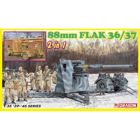 dragon 6923 88mm FLAK 36/37 (2 in 1) Kit en plástico para montar y pintar. Incluye piezas en fotograbado.
