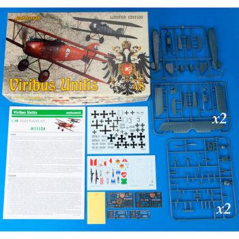 eduard 11124 Viribus Unitis Albatros D.III OEFFAG Limited Edition 1/48 Dual Combo, 2 maquetas completas deAlbatros D.III OEFFAG 153 y 253. Kit en plástico para montar y pintar en edición limitada Eduard,