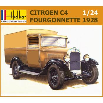 heller 80703 Citroen C4 Splendid Fourgonnette 1928 1/24 Kit en plástico para montar y pintar. Piezas 106 Dimensiones: 175 x 66 mm Escala 1/24