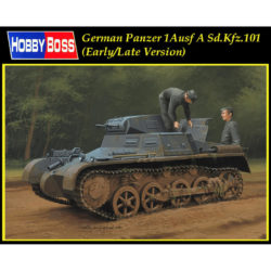 hobby boss 80145 German Panzer 1Ausf A Sd.Kfz.101 Early/Late Version Kit en plástico para montar y pintar. Incluye fotograbados y cadenas por eslabones individuales. Interior de cámara de combate y motor detallados Hoja de calcas con decoraciones alemanas de la 2ª GM y española de la Guerra Civil.