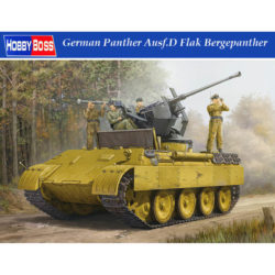 hobby boss 82492 German Panther Ausf.D Flak Bergepanther Kit en plástico para montar y pintar. Incluye fotograbados y cadenas por eslabones individuales.