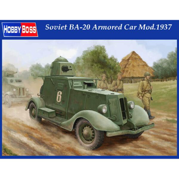 hobby boss 83882 Soviet BA-20 Armored Car Mod.1937 Kit en plástico para montar y pintar. Incluye fotograbados.