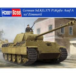 hobby boss 84506 German Sd.Kfz.171 PzKpfw Ausf A Panther w/ Zimmerit Kit en plástico para montar y pintar. Incluye fotograbados, zimmerit y cadenas por eslabones individuales.