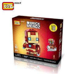 los 1402 Loz Mini 1402 Super Heroes: Iron Man Brick Headz 144 pcs Construye y colecciona con los bloques de Loz, tus personajes favoritos. Los Mini Blocks de Loz son los bloques de construcción de tamaño medio entre Loz Diamond Blocks y Lego Blocks.