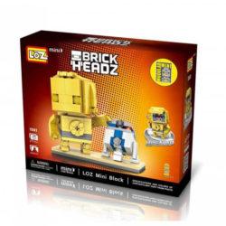 los 1501 Loz 1501 Star Wars C3PO + R2D2 Brick Headz 211 pcs Construye y colecciona con los bloques de Loz, tus personajes favoritos. Los Mini Blocks de Loz son los bloques de construcción de tamaño medio entre Loz Diamond Blocks y Lego Blocks.
