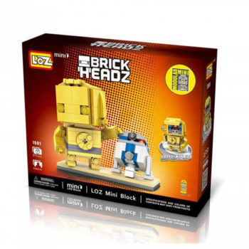 los 1501 Loz 1501 Star Wars C3PO + R2D2 Brick Headz 211 pcs Construye y colecciona con los bloques de Loz, tus personajes favoritos. Los Mini Blocks de Loz son los bloques de construcción de tamaño medio entre Loz Diamond Blocks y Lego Blocks.