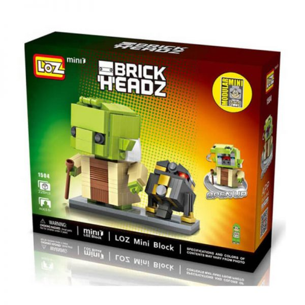los 1504 Loz Mini 1504 Star Wars Yoda + R2Q5 Brick Headz 228 pcs Construye y colecciona con los bloques de Loz, tus personajes favoritos. Los Mini Blocks de Loz son los bloques de construcción de tamaño medio entre Loz Diamond Blocks y Lego Blocks.