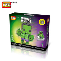 loz 1406 Loz Mini 1406 Super Heroes: Hulk Brick Headz 163 pcs Construye y colecciona con los bloques de Loz, tus personajes favoritos. Los Mini Blocks de Loz son los bloques de construcción de tamaño medio entre Loz Diamond Blocks y Lego Blocks. Piezas 144 Recomendado a partir de 6 años.