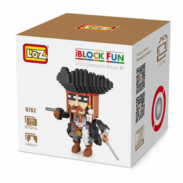 Loz 9762 Piratas del Caribe Jack Sparrow 670 pcs Construye y colecciona tus personajes favoritos con los bloques de montaje mas pequeños del mercado. Piezas 670 Recomendado a partir de 14 años.
