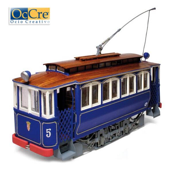 occre 53001 Tranvía Barcelona-Tibidabo 1/24 Kit de montaje en madera y metal, de dificultad media. Incluye instrucciones de montaje paso a paso con planos y fotografías.