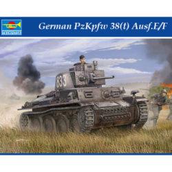 trumpeter 01577 German PzKpfw 38(t) Ausf.E/F Kit en plástico para montar y pintar. Incluye piezas en fotograbado y cadenas por tramos y eslabones individuales.