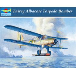 trumpeter 02880 Fairey Albacore Torpedo Bomber Kit en plástico para montar y pintar. Hoja de calcas con 2 decoraciones.