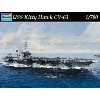 trumpeter 06714 USS Kitty Hawk CV-63 1/700 Kit en plástico para montar y pintar. Incluye piezas en fotograbado.