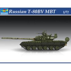 trumpeter 07145 trumpeter 07145 Russian T-80BV MBT Kit en plástico para montar y pintar. Hoja de calcas con 2 decoraciones.