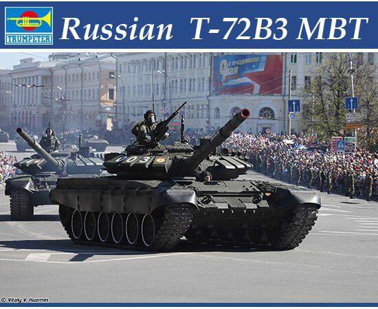 trumpeter 09508 Russian T-72B3 MBT Kit en plástico para montar y pintar. Incluye piezas en fotograbado y cadenas por eslabones individuales.