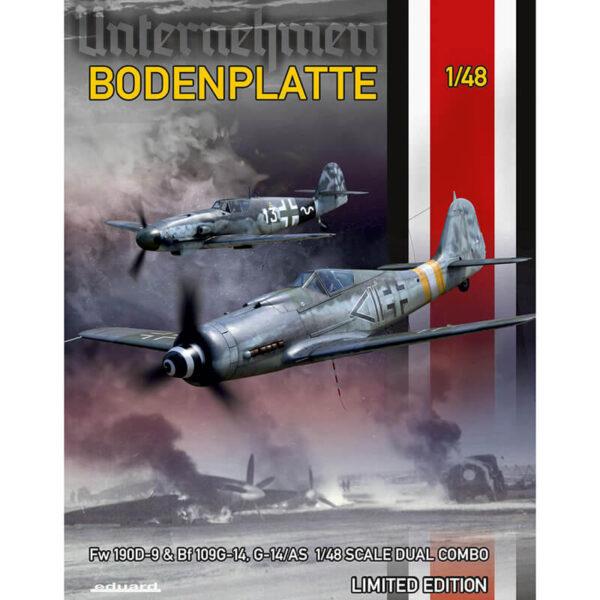 eduard 11125 Bodenplatte Dual Combo Limited Edition 1/48 Dual Combo en edición limitada. Compuesta por un Focke Wulf Fw 190D-9 y un Messerschmitt Bf-109G-14(G-14/AS)