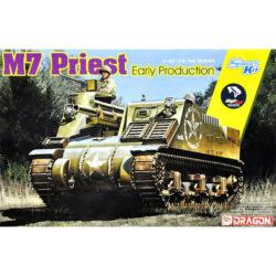 dragon 6817 U.S. M7 Priest Early Production Kit en plástico para montar y pintar. Incluye piezas en fotograbado y cadenas por eslabones individuales