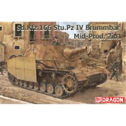 dragon 6892 Sd.Kfz.166 Stu.Pz.IV BRUMMBÄR MID-PRODUCTION 2 IN 1 kit en plástico para montar y pintar. Incluye dos cuerpos completos con y sin zimmerit.
