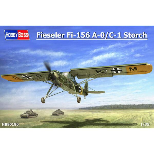 hobby boss 80180 Fieseler Fi-156 A-0/C-1 Storch 1/35 Kit en plástico para montar y pintar. Incluye mascarillas. Hoja de calcas con 5 decoraciones