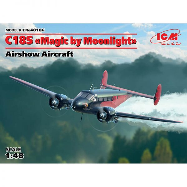 icm 48186 C18S Magic by Moonlight American Airshow Aircraft Kit en plástico para montar y pintar.