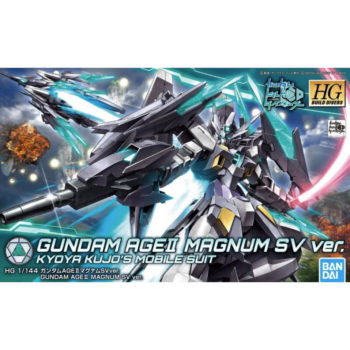 Bandai 5055585 HG Build Divers Gundam AgeII Magnum SV ver 1-144 Kyoya Kujo Mobile Suit Kit en plástico para montar