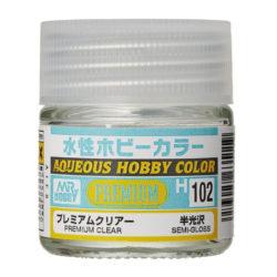 MR HOBBY H102 Premium Clear Semi-Gloss Barniz Satinado 10ml