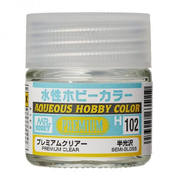 MR HOBBY H102 Premium Clear Semi-Gloss Barniz Satinado 10ml