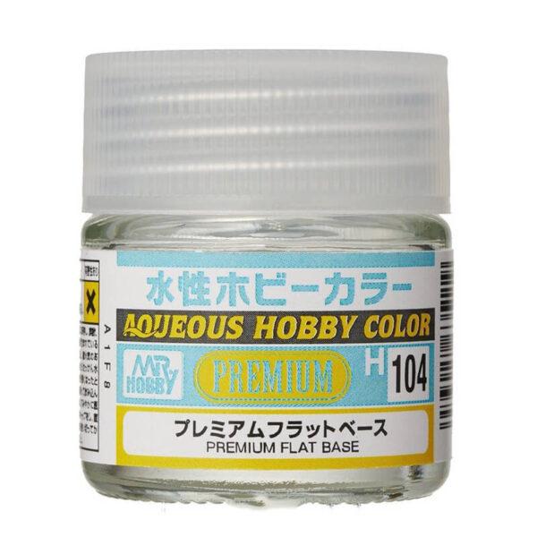 MR HOBBY H104 Premium Flat Base-Base mate 10ml Este producto se utiliza para mezclar con un color brillante y hacerlo mate.