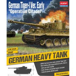 academy 13509 German Sd.Kfz.181 Tiger I Early Version Operation Citadel Kit en plástico para montar y pintar.
