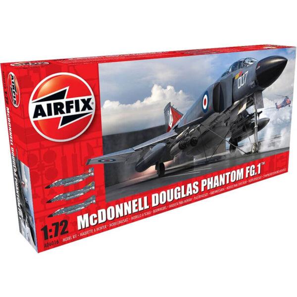 airfix a06016 McDonnell Douglas FG.1 Phantom 1/72Kit en plástico para montar y pintar.Hoja de calcas con 3 decoraciones de la Royal Navy en los años 70