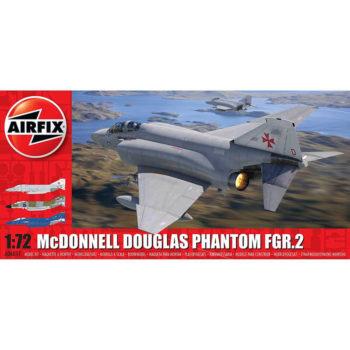 airfix a06017 McDonnell Douglas FGR.2 Phantom 1/72Kit en plástico para montar y pintar.Hoja de calcas con 3 decoraciones de la Royal Air Force en los años 70-90.