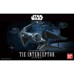 bandai 0208099 Star Wars 1/72 Tie InterceptorKit de montaje en plástico por presión, no necesita pegamento.Incluye figura del piloto y pedestal.