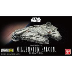bandai 0210501 Star Wars Vehicle Model 006 Millennium FalconKit de montaje en plástico por presión, no necesita pegamento.