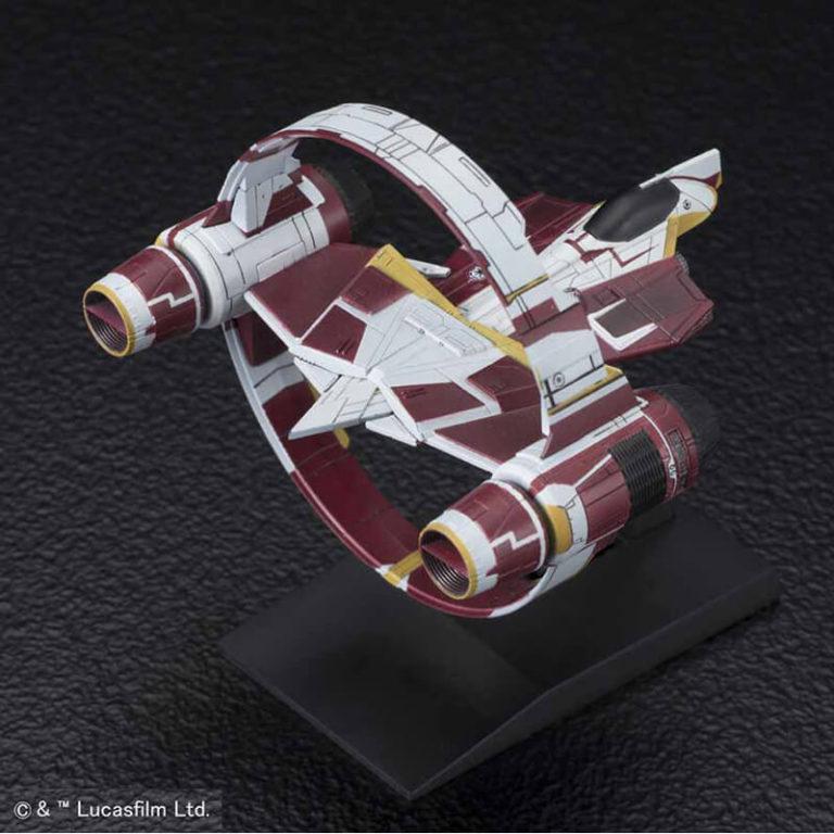 bandai 0216383 Star Wars Vehicle Model 009 Jedi StarfighterKit de montaje en plástico por presión, no necesita pegamento.