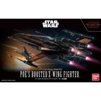 bandai 0219752 Star Wars 1/72 Poe's Boosted X-Wing StarfighterKit de montaje en plástico por presión, no necesita pegamento.