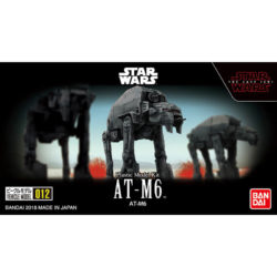 bandai 0219779 Star Wars Vehicle Model 012 AT-M6Kit de montaje en plástico por presión, no necesita pegamento.