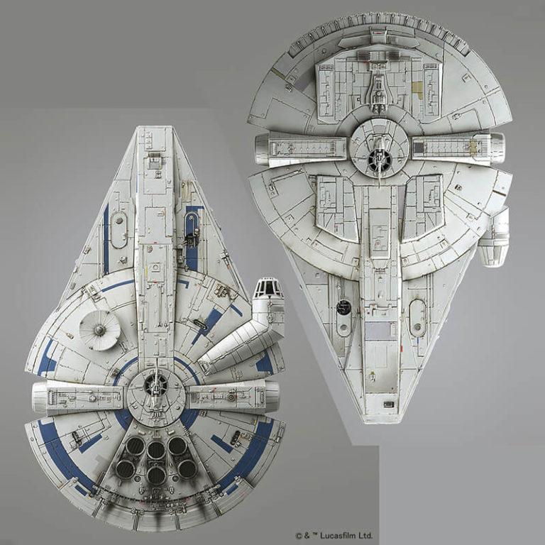 bandai 0225754 Star Wars 1/144 Millennium Falcon Lando Calrissian VersionKit de montaje en plástico por presión, no necesita pegamento