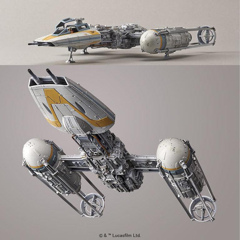 bandai 02196694 Star Wars 1/72 Y-Wing StarfighterKit de montaje en plástico por presión, no necesita pegamento.