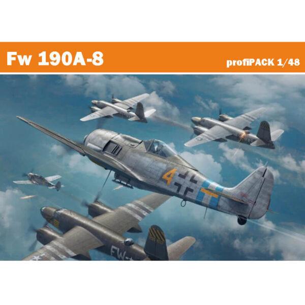 eduard 82147 Focke Wulf Fw 190A-8 profiPACK Edition 1/48Kit en plástico para montar y pintar.Incluye piezas en fotograbado y mascarillas