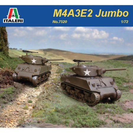 italeri 7520 M4A3E2 Jumbo Sherman 2 Fast Assembly Models Kit en plástico para montar y pintar.