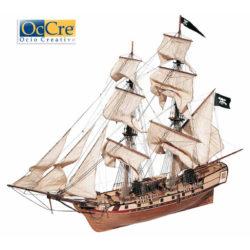 occre 13600 Bergantín Corsair 1-80 Kit de construcción tradicional en madera casco por cuadernas con doble forro
