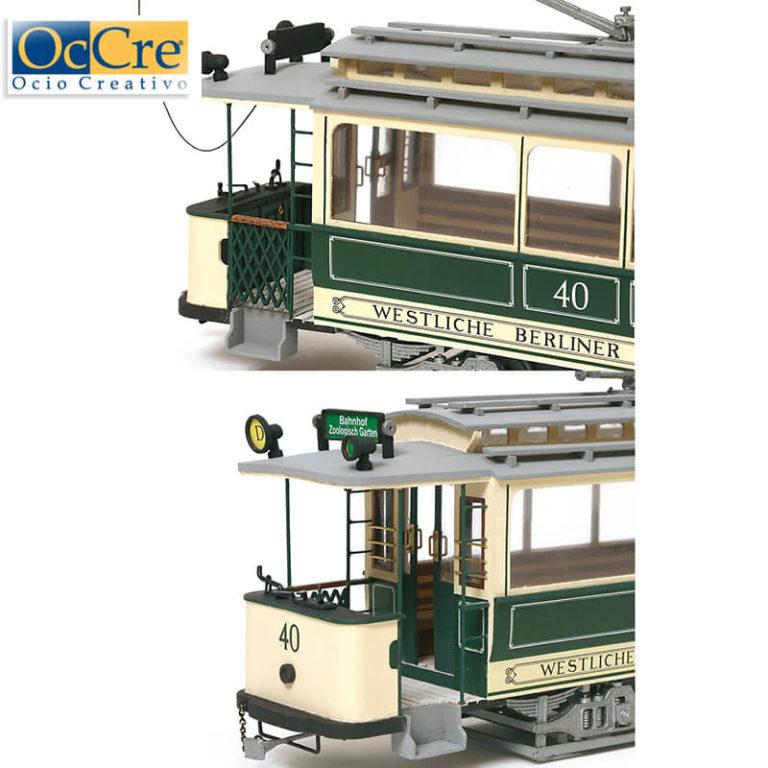 occre 53004 Tranvía Berlín 1/24 Kit de montaje en madera y metal, de dificultad media.