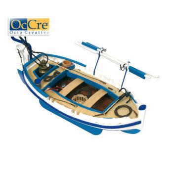 occre 52002 Barca de luz Calella 1/15 Kit de construcción tradicional en madera, casco por cuadernas con doble forro.