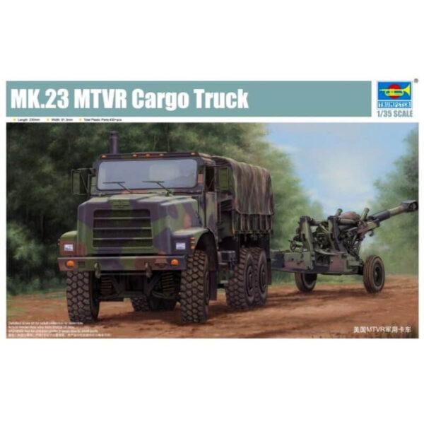 Trumpeter 01011 Mk.23 MTVR Cargo Truck Kit en plástico para montar y pintar.Incluye piezas en fotograbado.