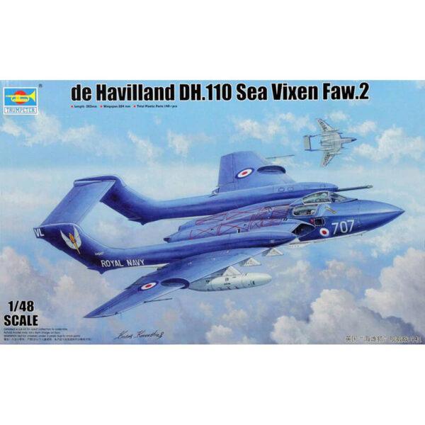 Trumpeter 05808 de Hawilland DH.110 Sea Vixen Faw.2Kit en plástico para montar y pintar.Incluye piezas en fotograbado.