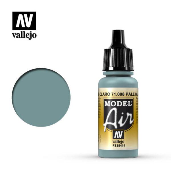 MA 71008 Azul Claro - Pale Blue 17mlFS35414La gama de colores Model Air ha sido desarrollada específicamente para su uso en aerografía.