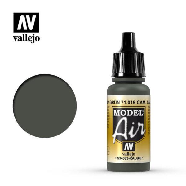 MA 71019 Cam. Verde Oscuro - Cam. Dark Green 17mlRAL6007 GrünLa gama de colores Model Air ha sido desarrollada específicamente para su uso en aerografía